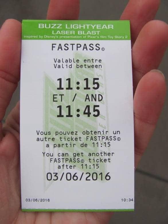 דיסנילנד פריז - יורודיסני - fast pass - פסט פס