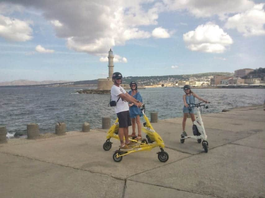כרתים עם ילדים - trikke tour