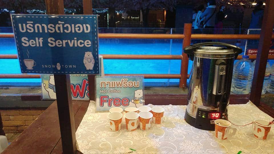 בנגקוק עם ילדים - Snow World - עמדת הקפה להורים