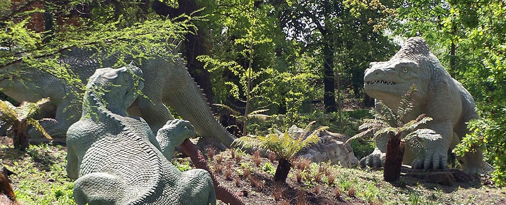 לונדון לילדים - הדינוזאורים של Crystal Palace