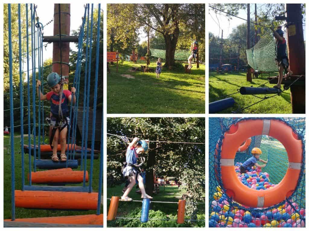 ורשה עם ילדים - פארק חבלים Bielany