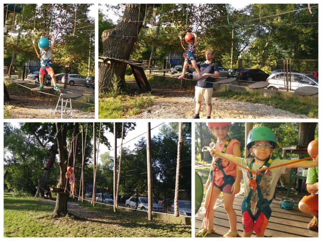 ורשה עם ילדים - פארק חבלים Linowy