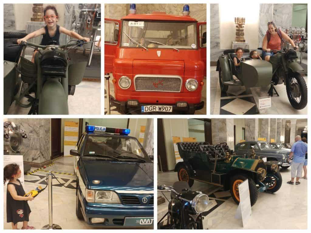 ורשה עם ילדים - תערוכת המכוניות העתיקות