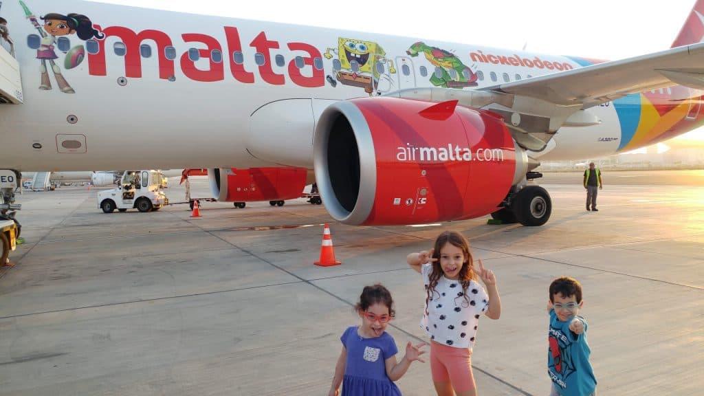 מלטה עם ילדים - אייר מלטה Air Malta