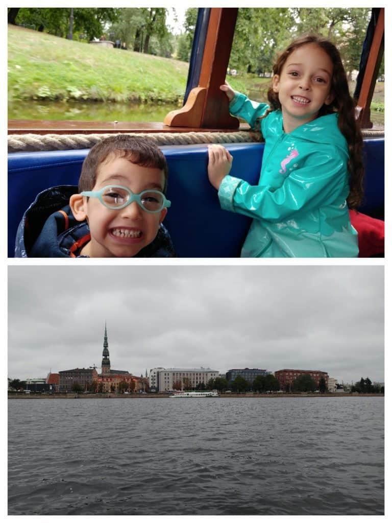 ריגה עם ילדים - שייט בנהר