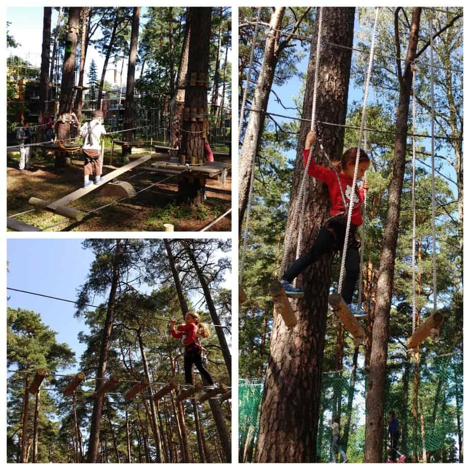 לטביה עם ילדים - יורמלה עם ילדים - פארק החבלים טרזן