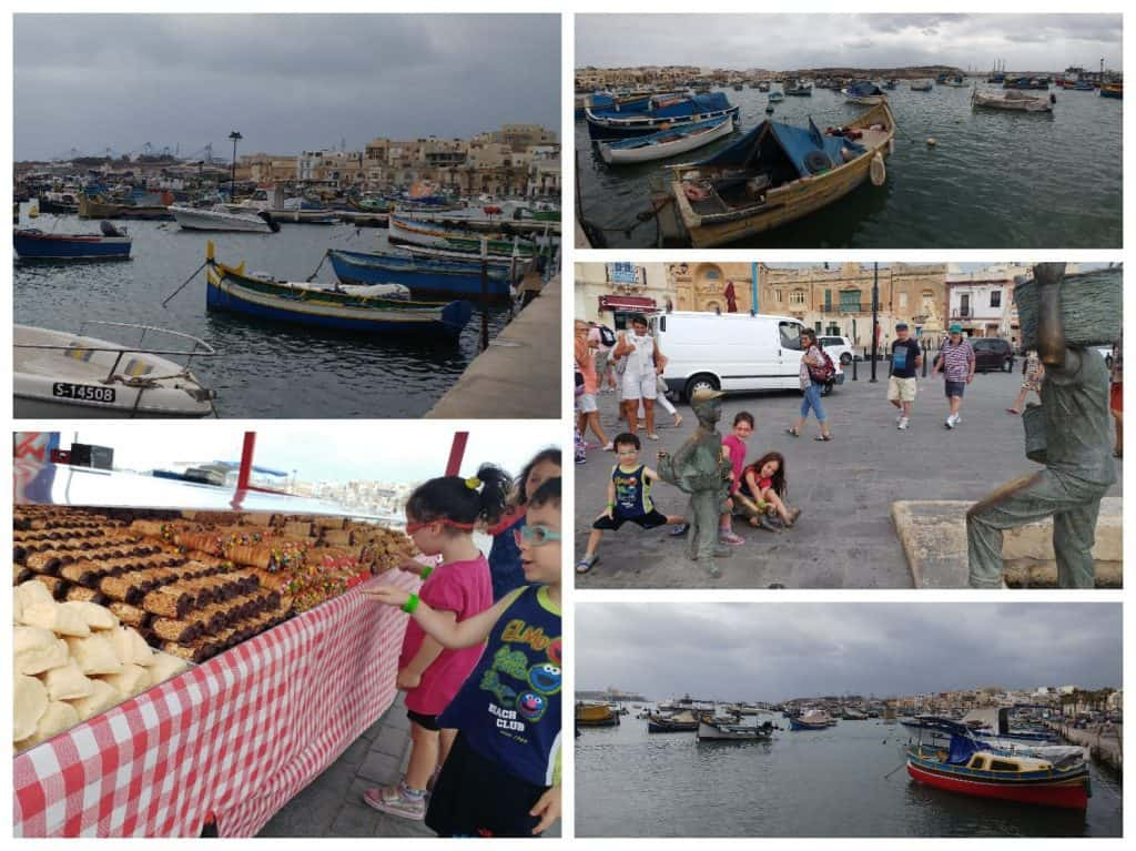 מלטה עם ילדים - כפר הדייגים Marsaxlokk
