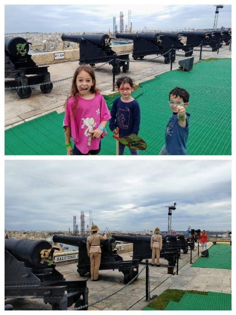 מלטה עם ילדים - Shooting Battery