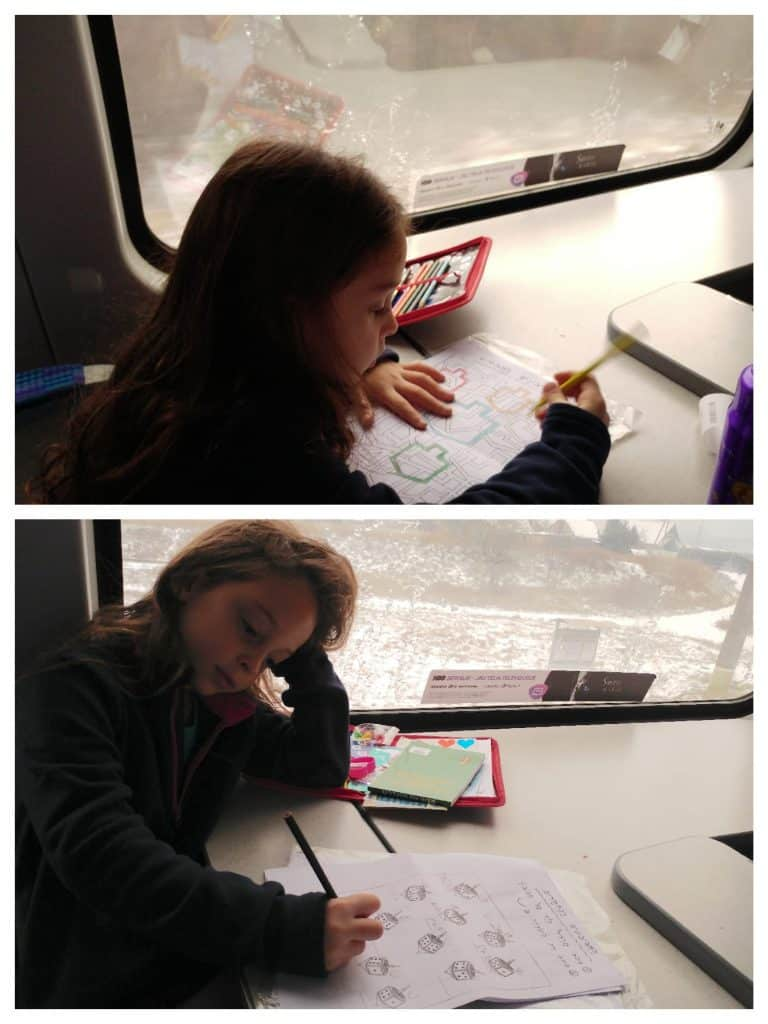 ליטא עם ילדים - שיעורים ברכבת