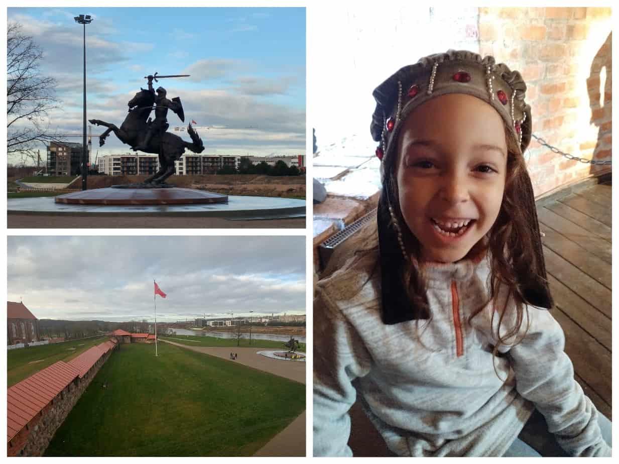 קובנה ליטא עם ילדים - ארמון קובנה