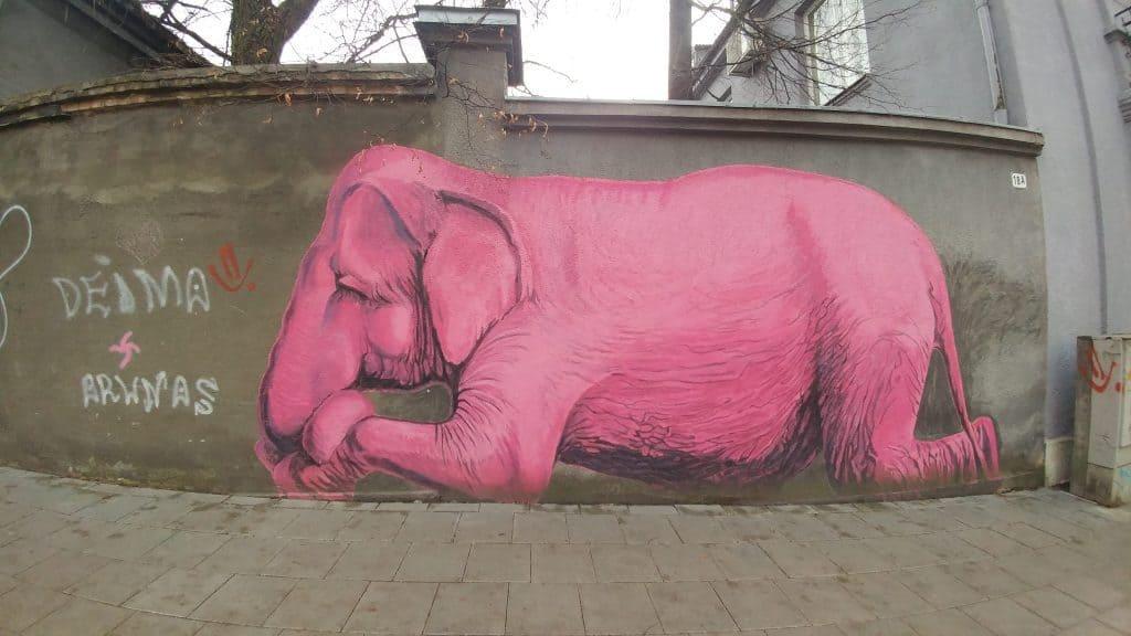 קובנה עם ילדים - הפיל הורוד