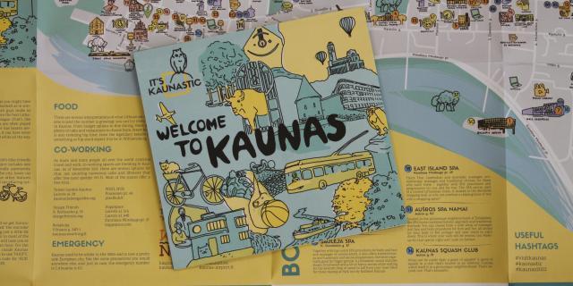 קובנה עם ילדים - מפת העיר