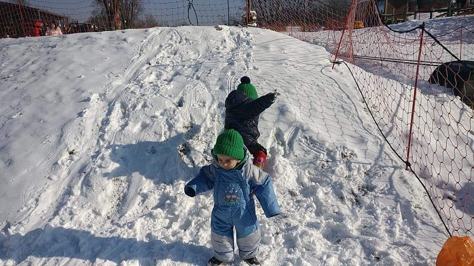 בודפשט עם ילדים בחורף - בשלג