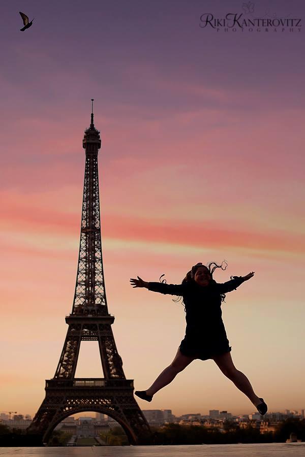 טיול בת מצווה לפריז ולאנגליה - אייפל בזריחה