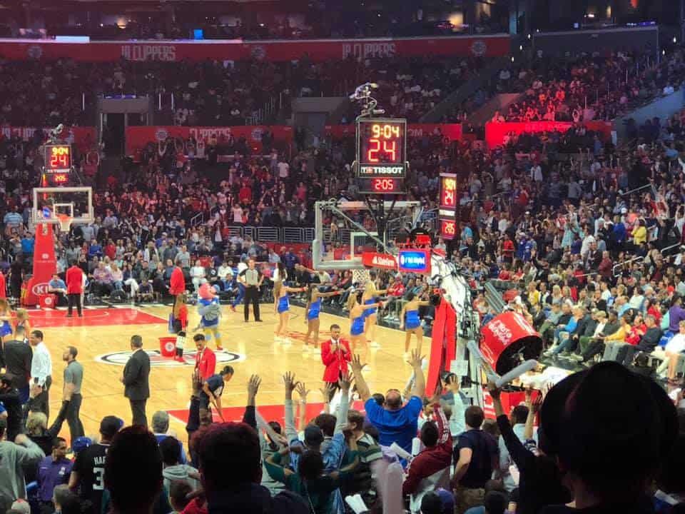 טיול בר מצווה לקאריביים, קליפורניה ופלורידה - משחק NBA של הקליפרס