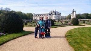 עמק הלואר עם ילדים - ארמון שננסו Chenonceau הגנים