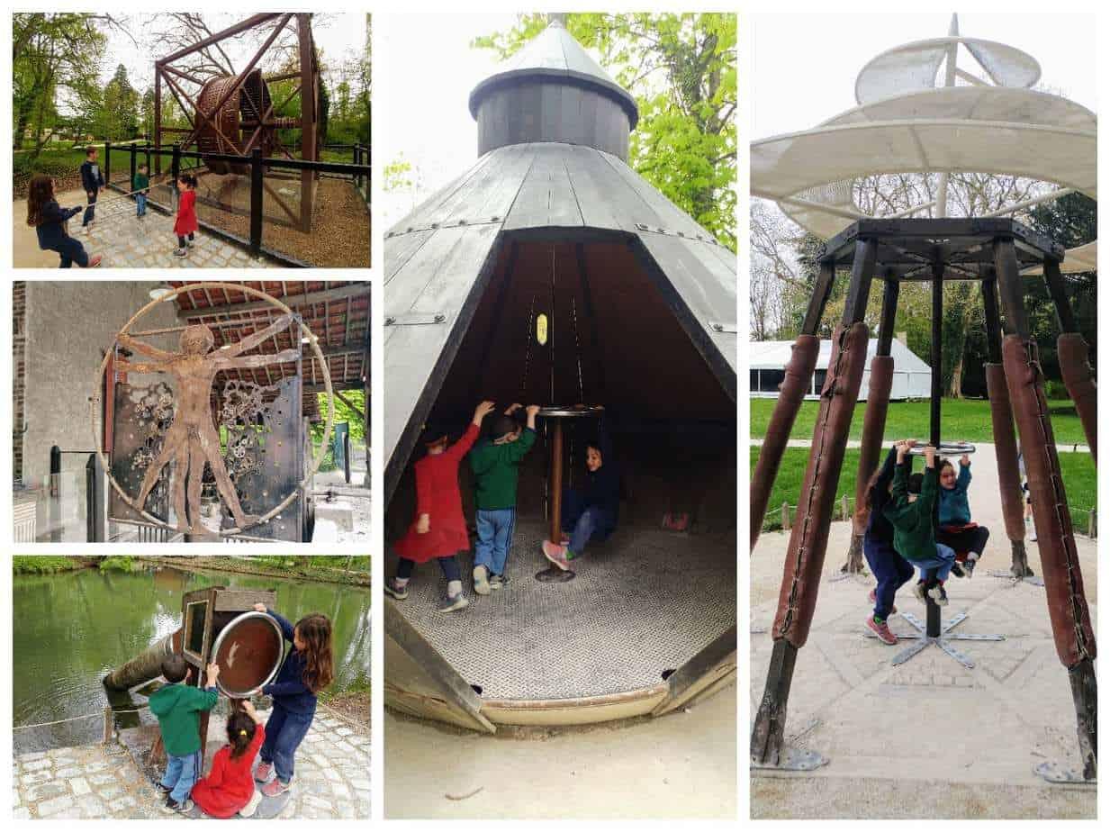 עמק הלואר עם ילדים - דה וינצ׳י Clos Luce ההמצאות בחוץ