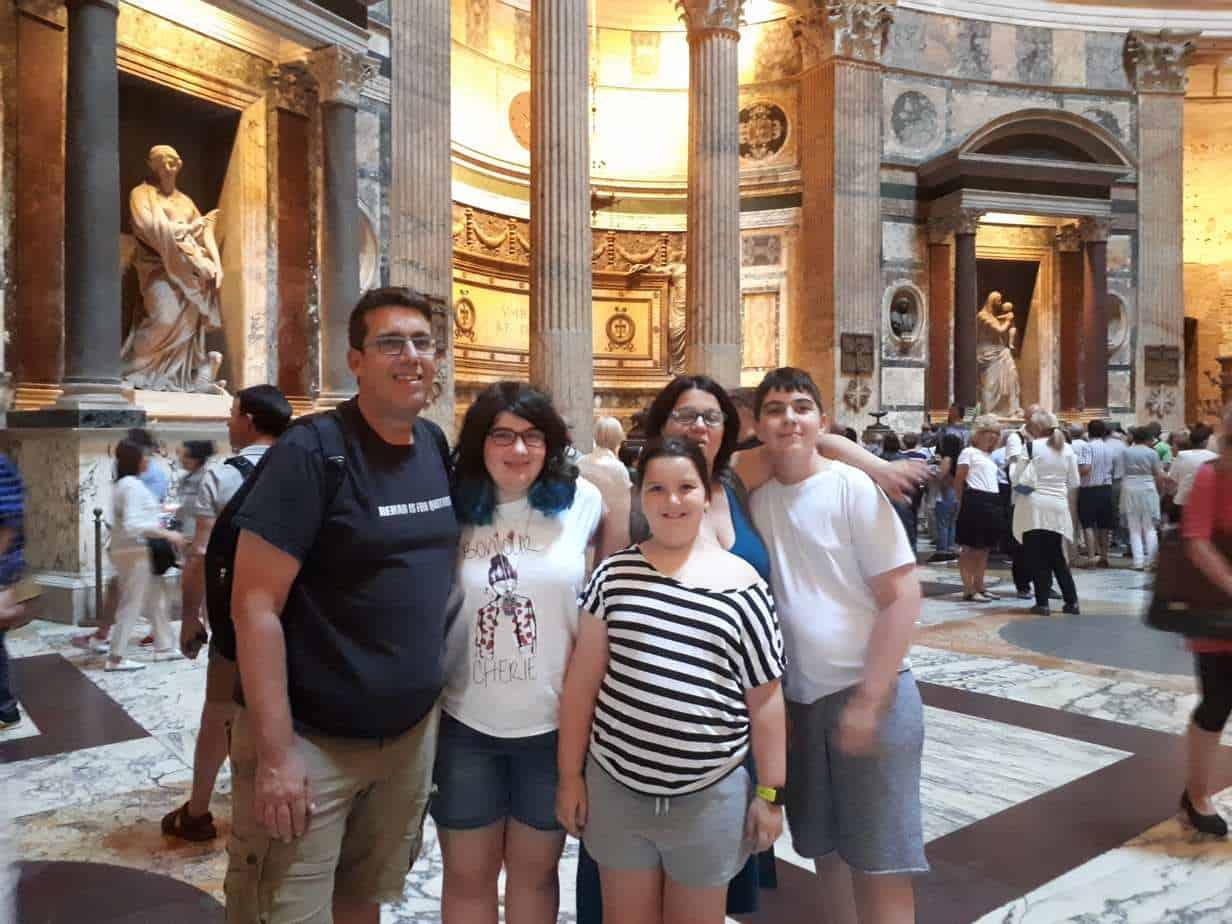 רומא עם מתבגרים - הפנתאון
