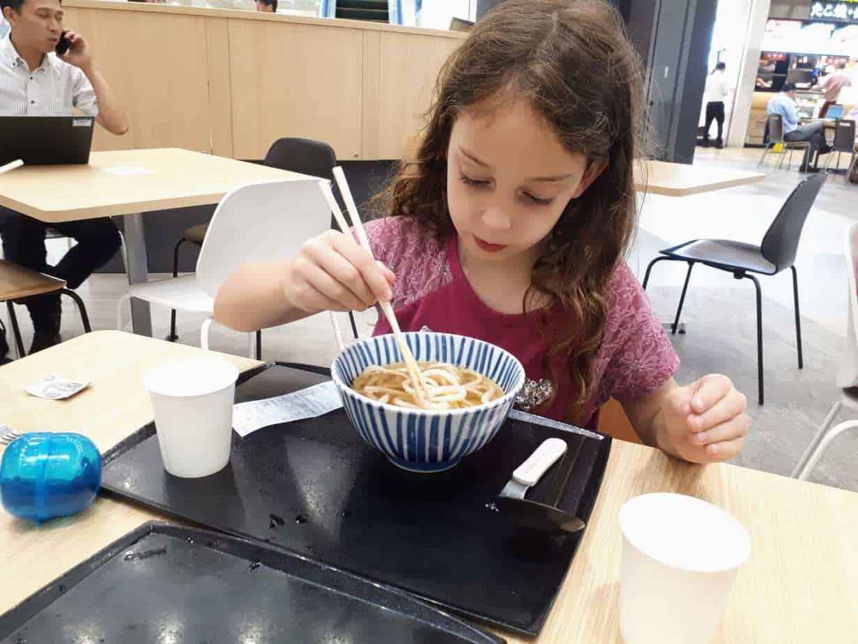 טוקיו עם ילדים - מסתדרים עם האוכל