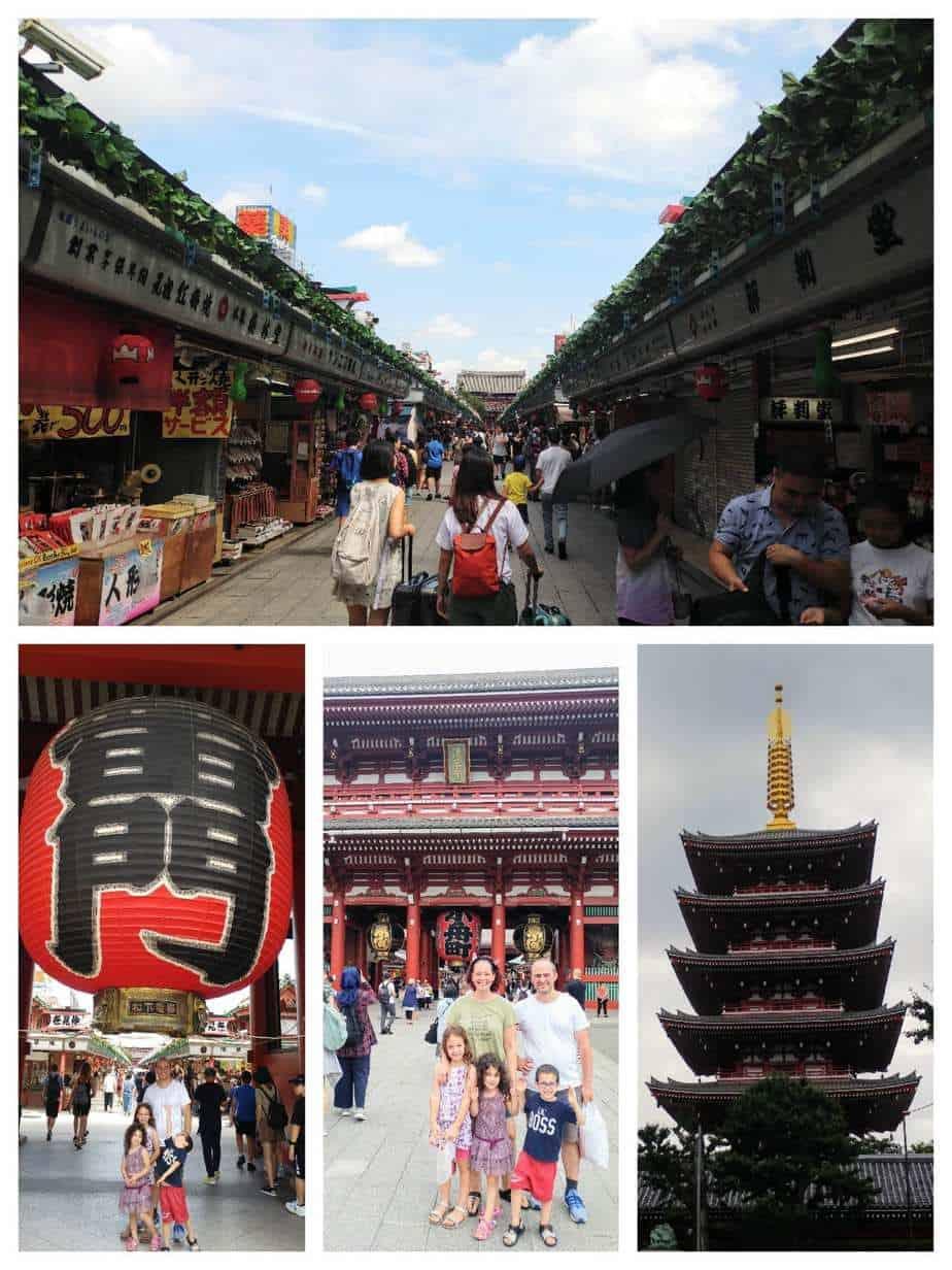 טוקיו עם ילדים - מקדש סנסוג׳י Senso-ji Temple