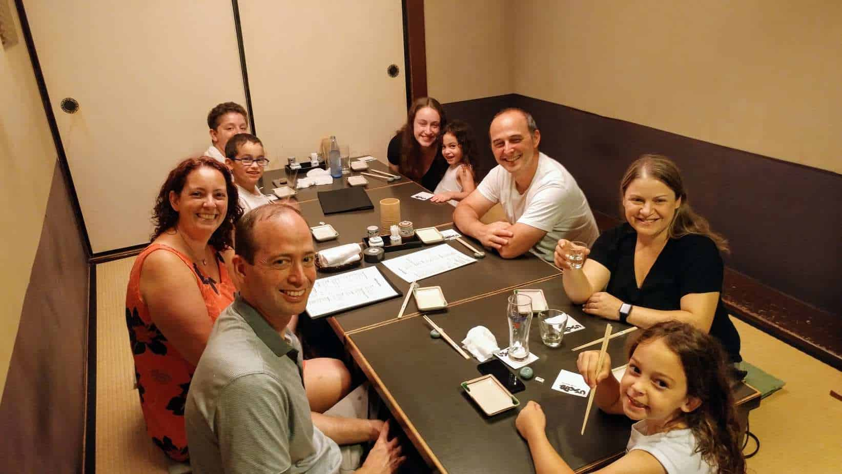 קיוטו עם ילדים - מסעדת Kushikura