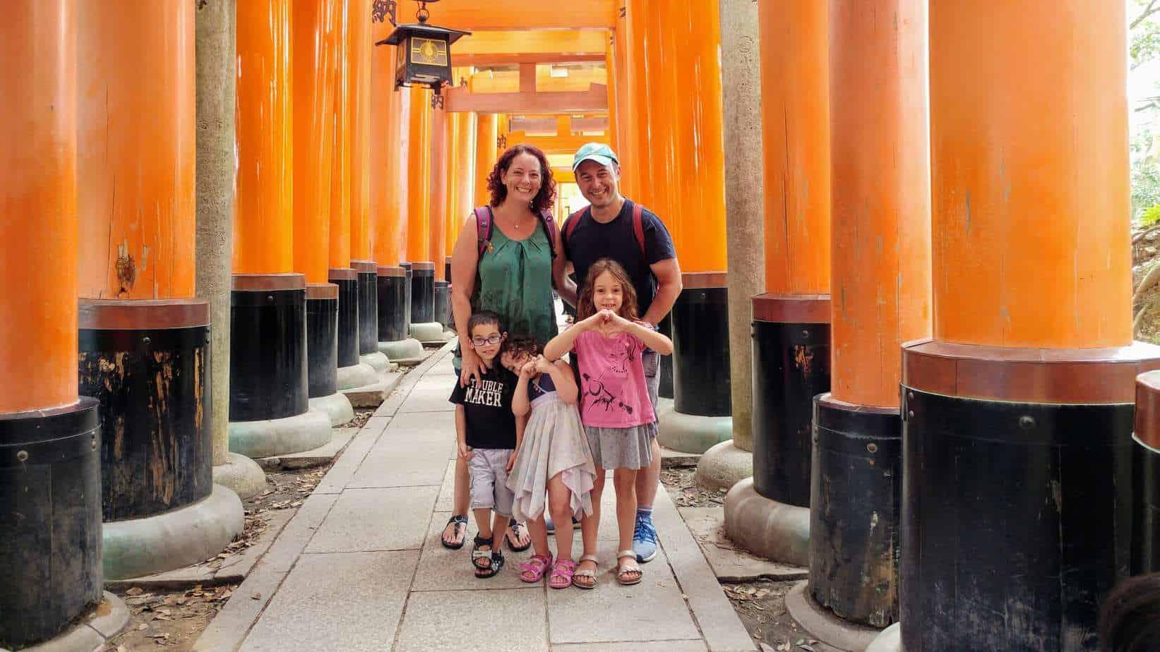 קיוטו עם ילדים - מקדש Fushimi Inari