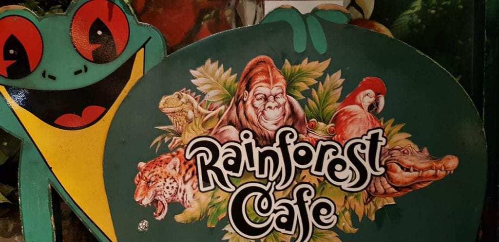 חג המולד בלונדון עם ילדים - rainforest cafe