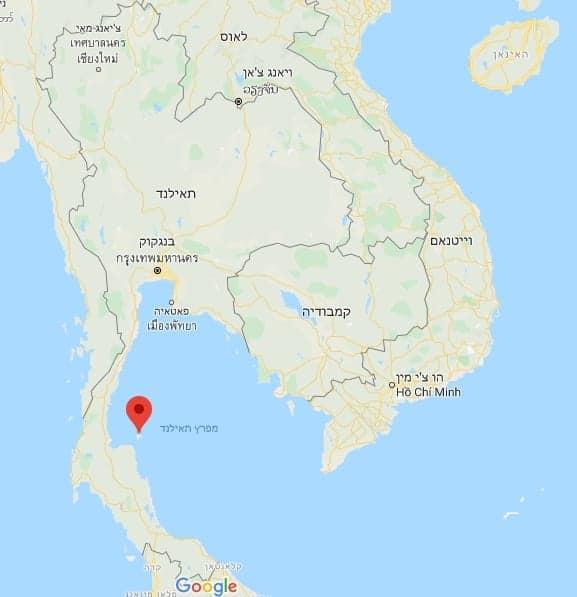מלונות בקו סמוי למשפחות עם ילדים מפת תאילנד מתוך GOOGLE MAPS