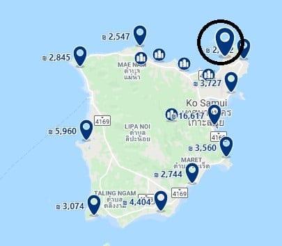 מלונות בקו סמוי למשפחות עם ילדים חוף Choeng Mon תמונה מתוך GOOGLE MAPS