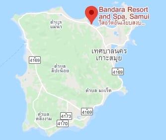 מלונות בקו סמוי למשפחות עם ילדים Bandara Resort & Spa מפה מתוך האתר הרשמי