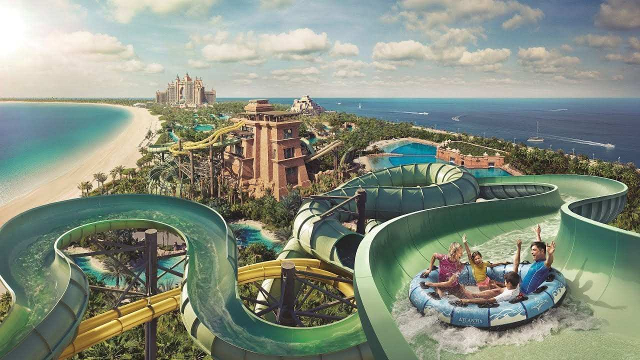 מלונות מומלצים בדובאי למשפחות - Atlantis The Palm - פארק המים Aquaventure