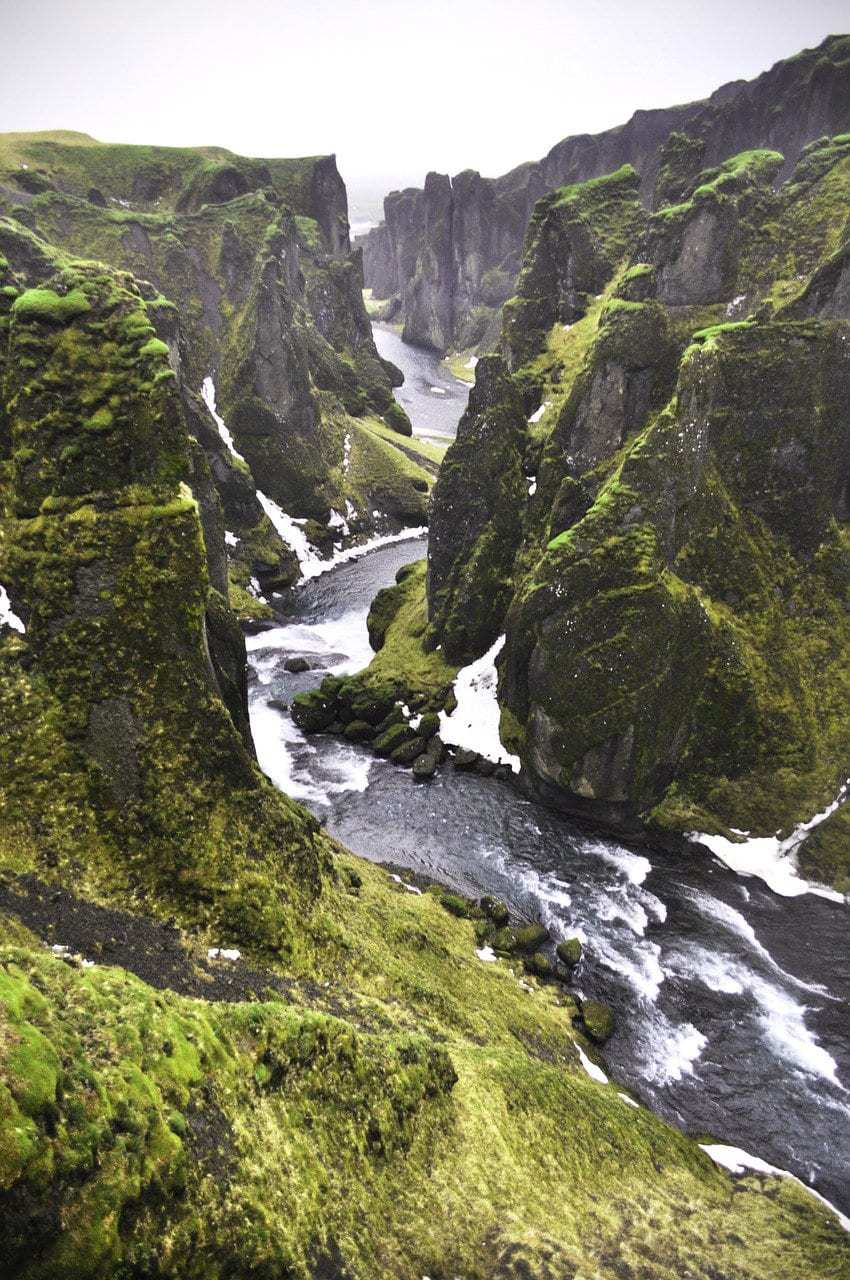 איסלנד למשפחות עם ילדים - קניון Fjaðrárgljúfur