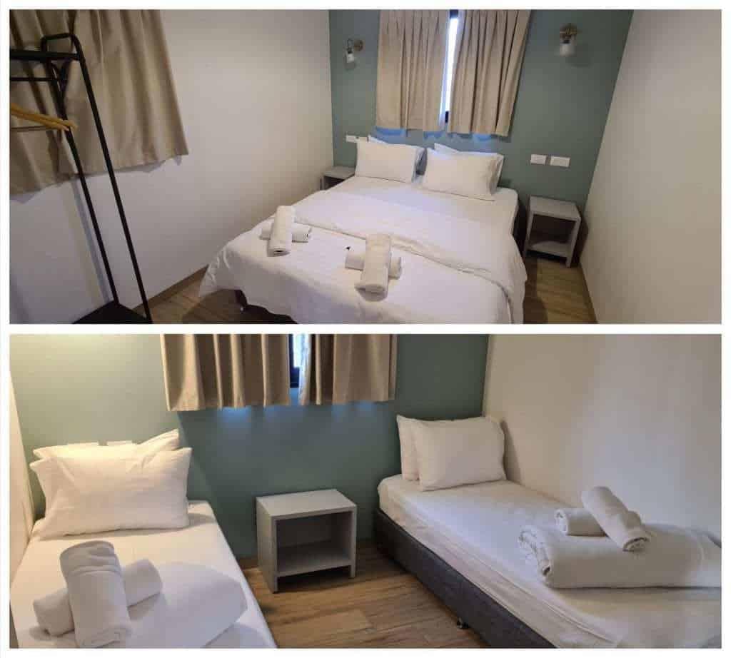 כפר הנופש מעיין - חדרי השינה בצימרים