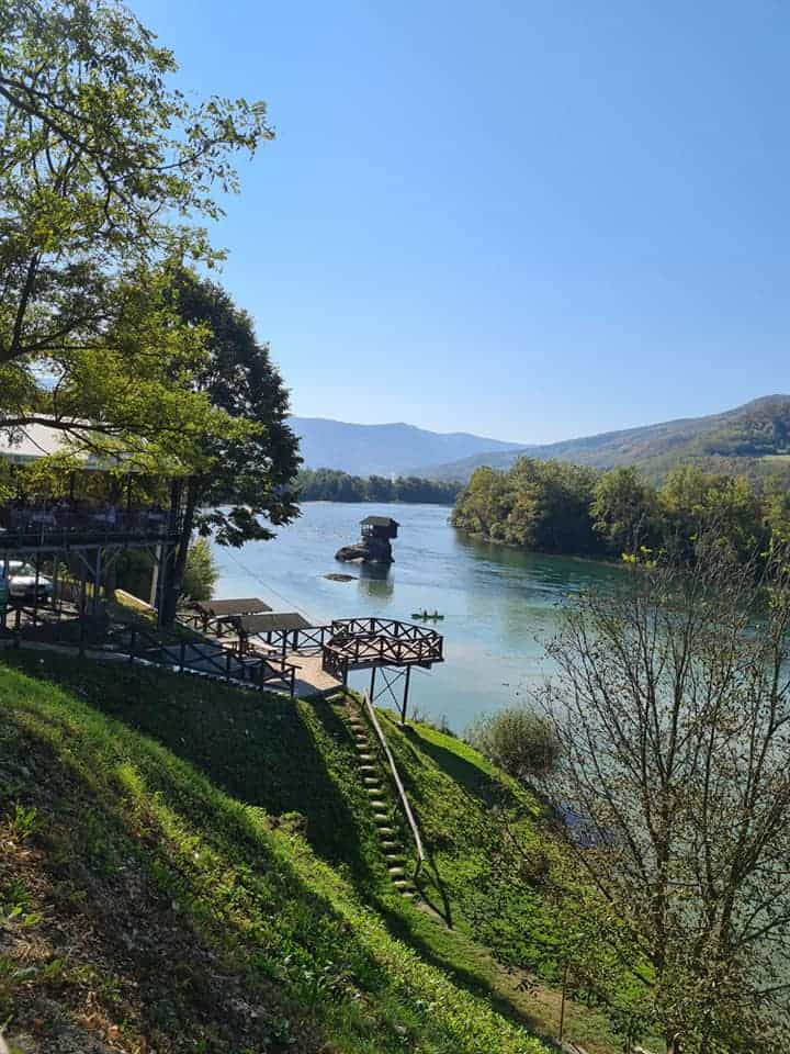 Drina river house