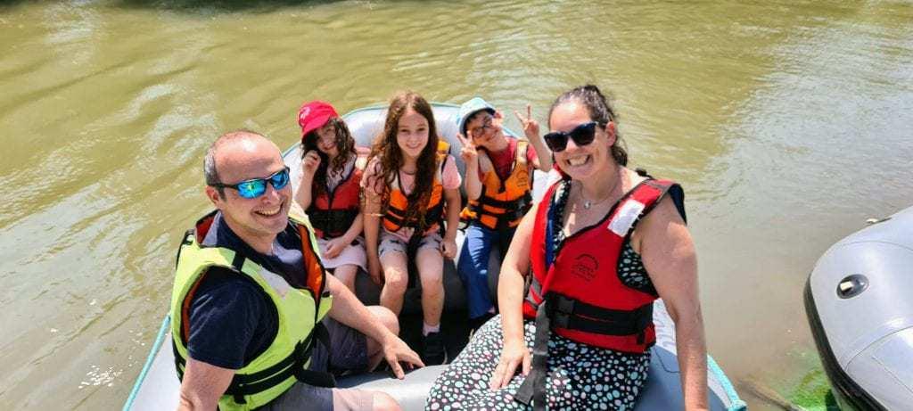 אטרקציות ברמת הגולן למשפחות עם ילדים - ראפינג נהר הירדן
