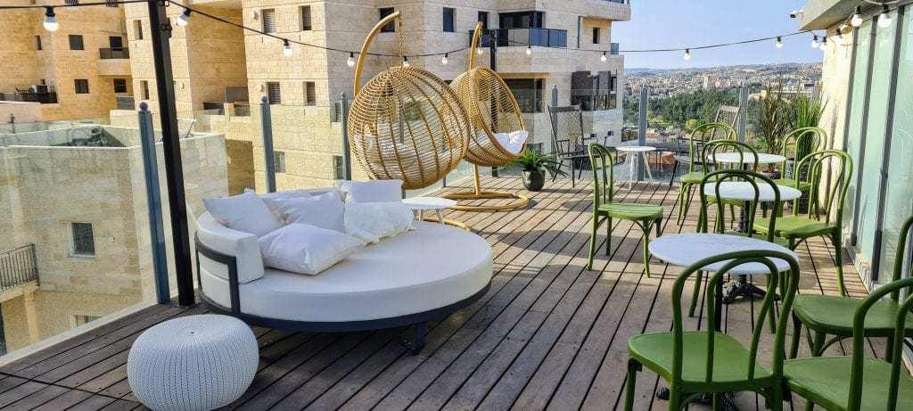 דירה בירושלים למשפחות עם ילדים - הגג
