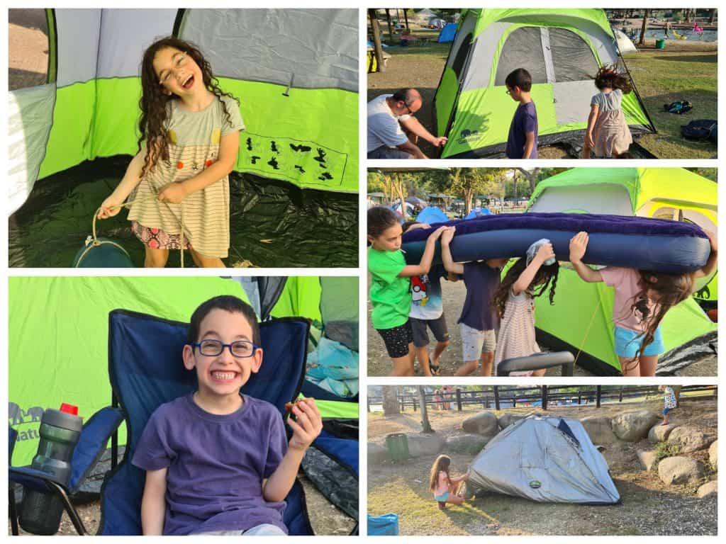 קמפינג בגני חוגה מתחם קמפינג למשפחות בצפון - האוהלים